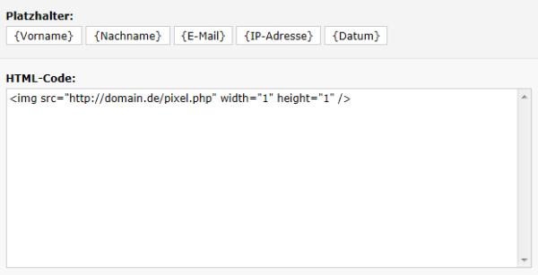 Kampagne HTML-Code