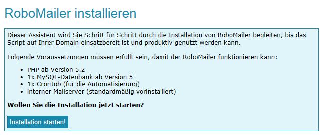 RoboMailer Installation